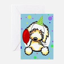 Labradoodle Happy Birthday Greeting Cards (Pk of 1