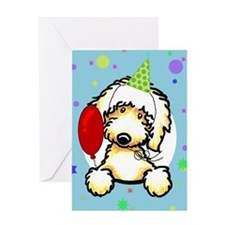 Labradoodle Happy Birthday Greeting Card