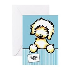 Yw Labradoodle Thank You Greeting Cards (Pk of 10)