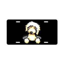 Peeking Golden Doodle Aluminum License Plate