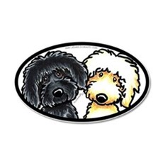Black Yellow Labradoodle Wall Decal
