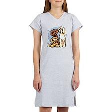 3 Labradoodle Dog Night Women's Nightshirt