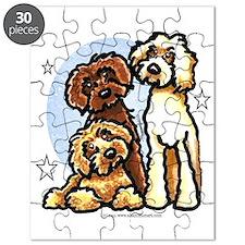 3 Labradoodle Dog Night Puzzle