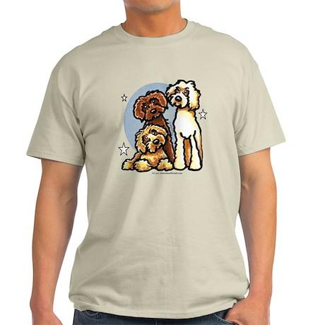 3 Labradoodle Dog Night Light T-Shirt