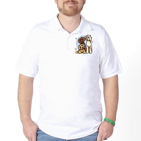 3 Labradoodle Dog Night Golf Shirt