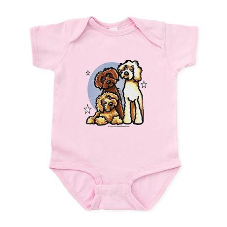 3 Labradoodle Dog Night Infant Bodysuit