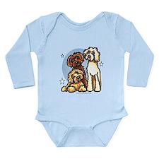 3 Labradoodle Dog Night Long Sleeve Infant Bodysui