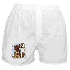 3 Labradoodle Dog Night Boxer Shorts
