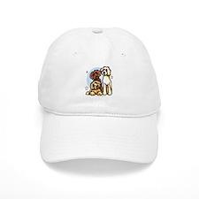 3 Labradoodle Dog Night Baseball Cap