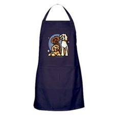 3 Labradoodle Dog Night Apron (dark)