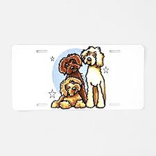 3 Labradoodle Dog Night Aluminum License Plate