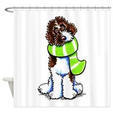 Labradoodle Scarf Shower Curtain