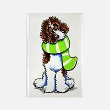 Labradoodle Scarf Rectangle Magnet