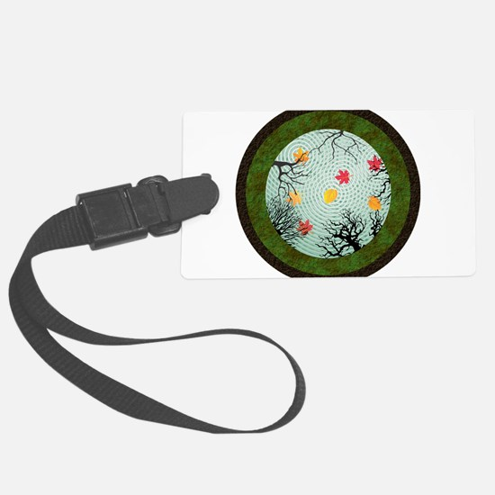 Reflections in an Autumn Pond Luggage Tag
