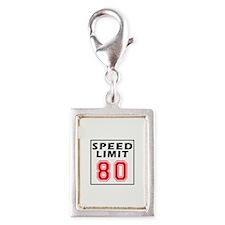 Speed Limit 80 Silver Portrait Charm