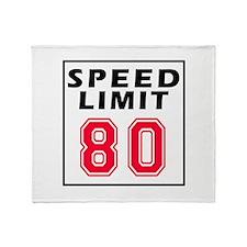 Speed Limit 80 Throw Blanket