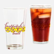 fastpitch softball Drinking Glass