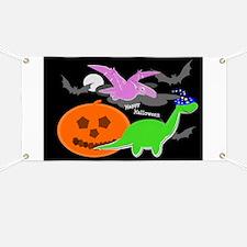 Cute Halloween Dinosaurs Banner