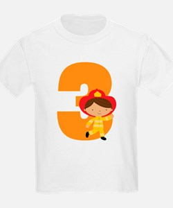 3rd Birthday Fireman T-Shirt
