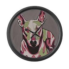 Bulll Terrier - Andromeda Large Wall Clock