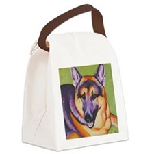 German Shepard - Cesar Canvas Lunch Bag