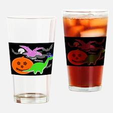 Cute Halloween Dinosaurs Drinking Glass