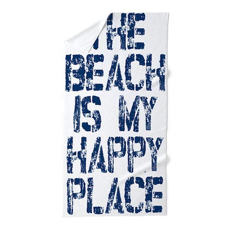 Beach Happy Place Beach Towel