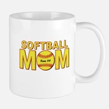 Personalized Softball Mom Mugs