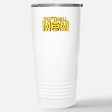 Personalized Softball Mom Travel Mug