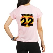 Personalized Softball Mom Performance Dry T-Shirt