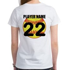 Personalized Softball Mom T-Shirt