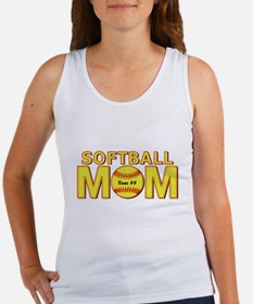 Personalized Softball Mom Tank Top