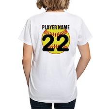 Personalized Softball Mom T-Shirt