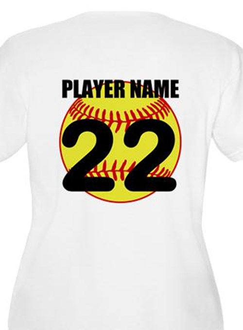 Personalized Softball Mom Plus Size T-Shirt