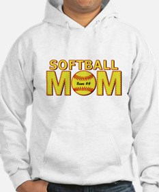 Personalized Softball Mom Hoodie
