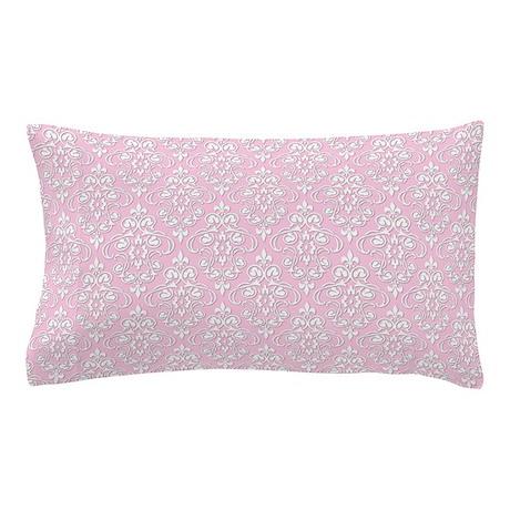 Carnation & White Damask #36 Pillow Case