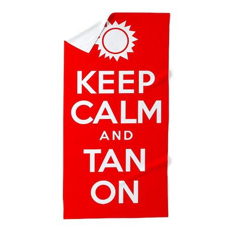 Keep Calm Tan On Beach Towel