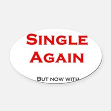 Single Oval Car Magnet