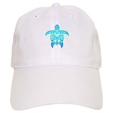 Ocean Blue Tribal Turtle Baseball Baseball Cap