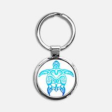 Ocean Blue Tribal Turtle Keychains