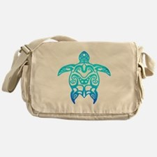 Ocean Blue Tribal Turtle Messenger Bag