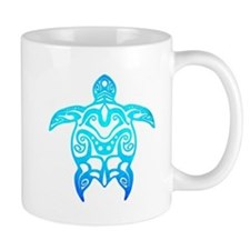 Ocean Blue Tribal Turtle Mugs
