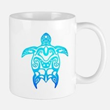 Ocean Blue Tribal Turtle Mugs
