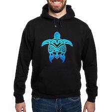 Ocean Blue Tribal Turtle Hoodie