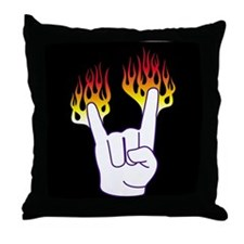 Heavy Metal Hand Throw Pillow