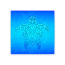 Tribal Turtle Ocean Blue Sticker
