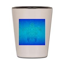Tribal Turtle Ocean Blue Shot Glass
