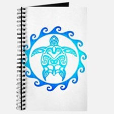Blue Tribal Turtle Sun Journal