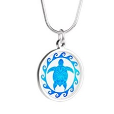 Ocean Blue Turtle Sun Necklaces