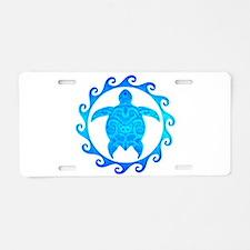 Ocean Blue Turtle Sun Aluminum License Plate